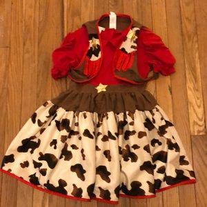 Pottery barn kids cow girl costume
